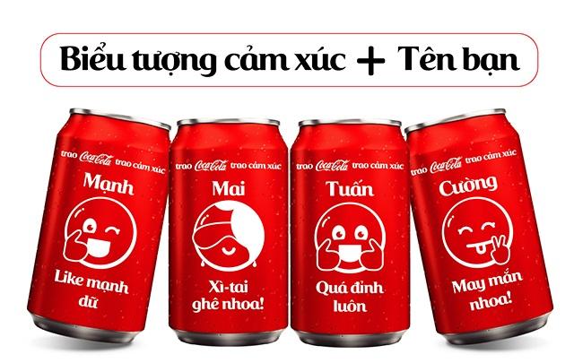 Trao coca cola tra cảm xúc