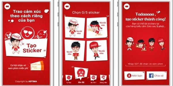 """Coca Cola """"trình làng"""" bộ sưu tập sticker """"chính chủ"""" đầu tiên"""