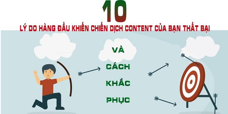 10 nguyên nhân content thất bại